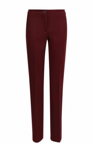 Укороченные вельветовые брюки со стрелками Erika Cavallini. Цвет: бордовый