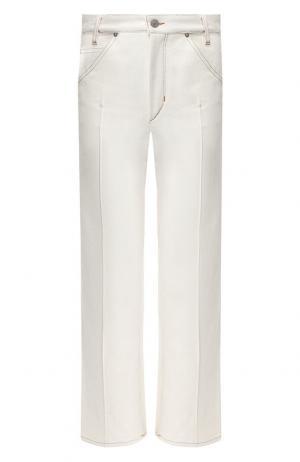 Укороченные джинсы с контрастной прострочкой Isabel Marant. Цвет: кремовый
