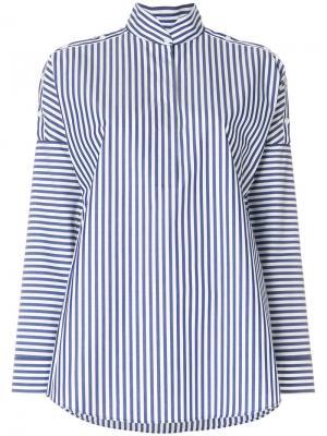 Рубашка в полоску со стоячим воротником Akris Punto. Цвет: белый