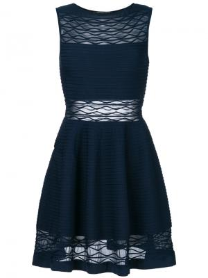 Фактурное трикотажное платье Antonino Valenti. Цвет: синий