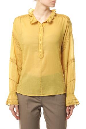 Блуза ETOILE Isabel Marant. Цвет: желтый