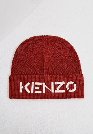 Шапка Kenzo. Цвет: бордовый