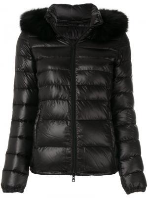 Куртка-пуховик с капюшоном Duvetica. Цвет: чёрный