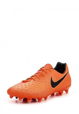Бутсы Nike. Цвет: оранжевый