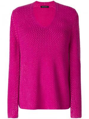 Джемпер с V-образным вырезом Iris Von Arnim. Цвет: розовый и фиолетовый