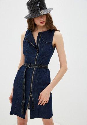 Платье джинсовое Karl Lagerfeld Denim. Цвет: синий