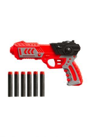 Бластер с мягкими пулями 6 шт BONDIBON. Цвет: красный