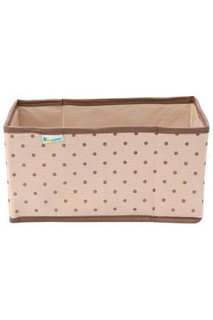 Коробка в прихожую 25х15х14 HOMSU. Цвет: бежевый