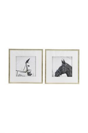 Картины Лошади, 2 шт. ГЛАСАР. Цвет: белый
