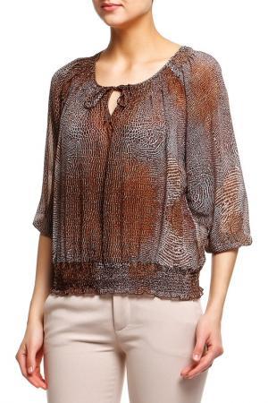 Блузка Acasta. Цвет: коричневый