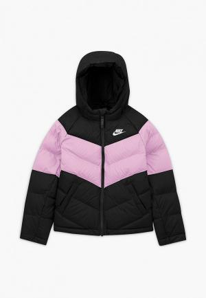 Куртка утепленная Nike. Цвет: разноцветный