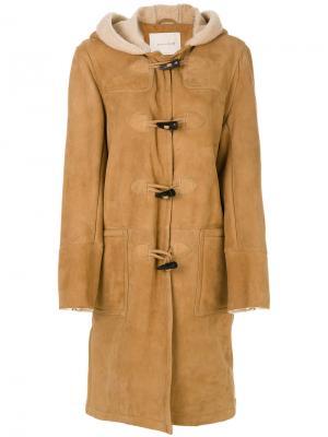 Пальто с капюшоном Mackintosh. Цвет: коричневый