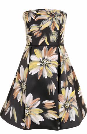 Приталенное платье-бюстье с цветочным принтом Basix Black Label. Цвет: разноцветный
