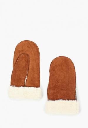 Варежки Pieces. Цвет: коричневый