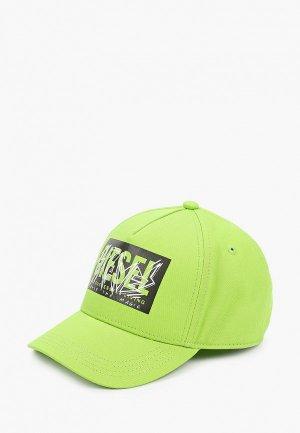 Бейсболка Diesel. Цвет: зеленый