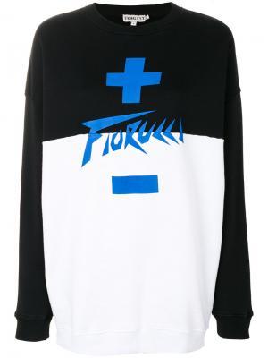Толстовка дизайна колор-блок Fiorucci. Цвет: чёрный