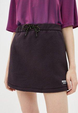 Юбка adidas Originals. Цвет: фиолетовый