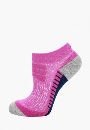 Носки ASICS. Цвет: фиолетовый