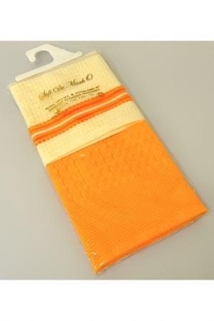 Кухонные салфетки 45х70, 2 шт Sofi De Marko. Цвет: оранжевый