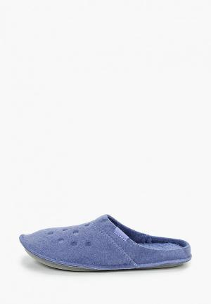 Тапочки Crocs. Цвет: синий
