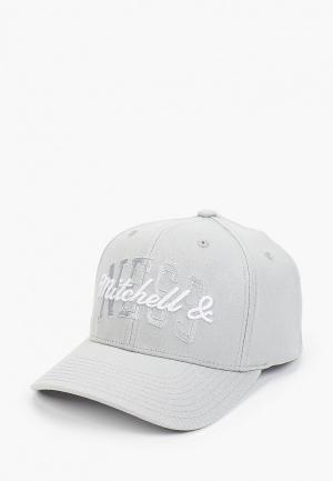 Бейсболка Mitchell & Ness. Цвет: серый