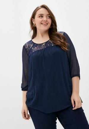 Блуза Junarose. Цвет: синий