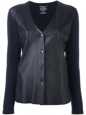 Куртка с кожаными панелями Majestic Filatures. Цвет: синий