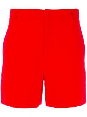 Шорты с карманами по бокам Maison Kitsuné. Цвет: красный