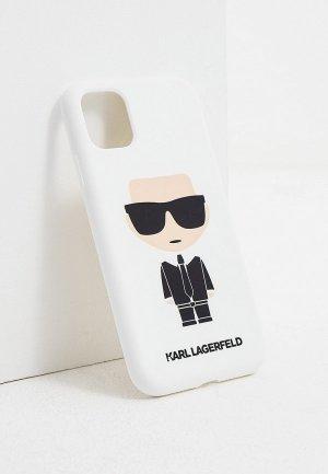 Чехол для iPhone Karl Lagerfeld. Цвет: белый