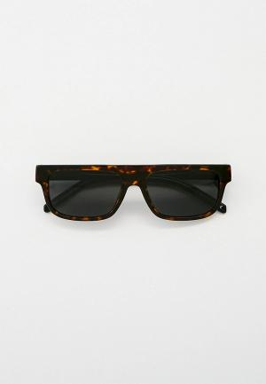 Очки солнцезащитные Arnette. Цвет: коричневый