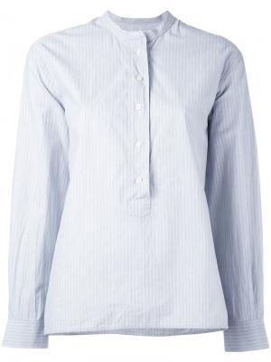 Полосатая блузка без воротника Margaret Howell. Цвет: синий