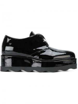 Декорированные ботинки на платформе Albano. Цвет: чёрный