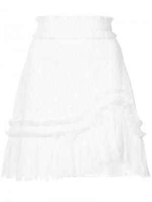 Кружевная юбка Vinna Alexis. Цвет: белый