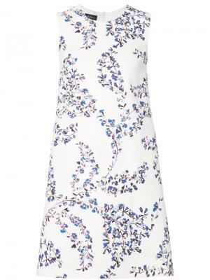 Платье без рукавов с цветочным рисунком Les Copains. Цвет: белый