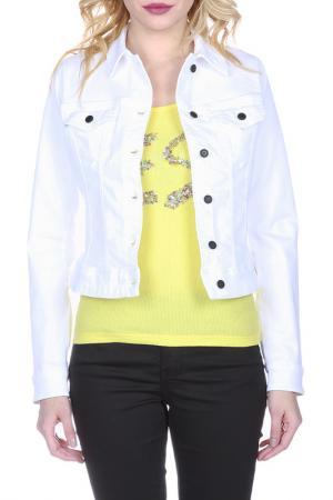 Джинсовая куртка FREESOUL. Цвет: белый