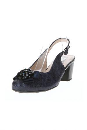 Туфли открытые ALPINA. Цвет: синий