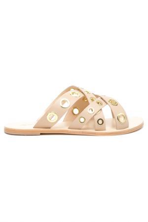 Туфли летние открытые Alba. Цвет: бежевый