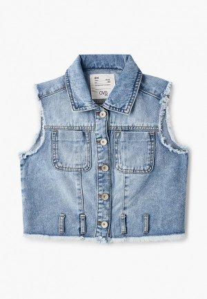 Жилет джинсовый OVS. Цвет: голубой