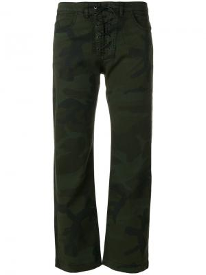 Укороченные джинсы 8pm. Цвет: зелёный