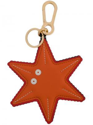 Подвеска на сумку в виде морской звезды Loewe. Цвет: жёлтый и оранжевый