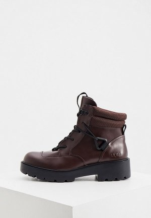 Ботинки UGG. Цвет: бордовый