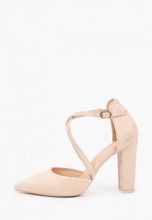 Туфли Mellisa. Цвет: бежевый