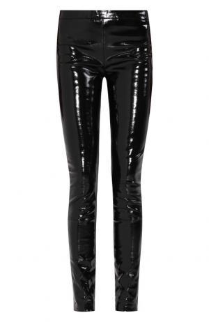 Кожаные брюки с эластичным поясом Haider Ackermann. Цвет: черный