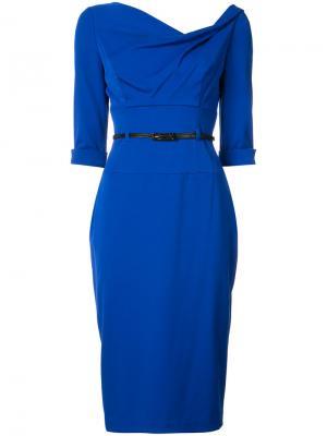 Платье Jackie O Black Halo. Цвет: синий