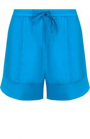 Однотонные мини-шорты с эластичным поясом Roque. Цвет: голубой