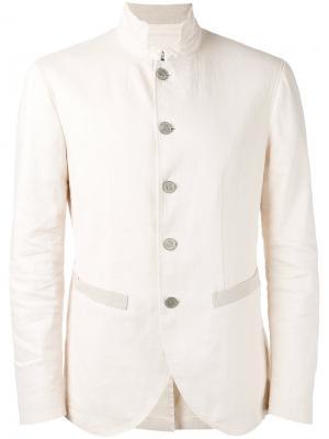 Куртка-рубашка в стиле милитари John Varvatos. Цвет: телесный