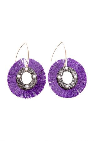 Серьги BOHO CHIC. Цвет: фиолетовый