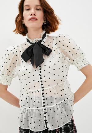 Блуза Alice + Olivia. Цвет: белый