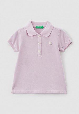 Поло United Colors of Benetton. Цвет: фиолетовый