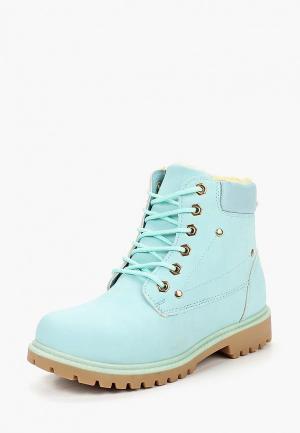 Ботинки Catisa. Цвет: бирюзовый